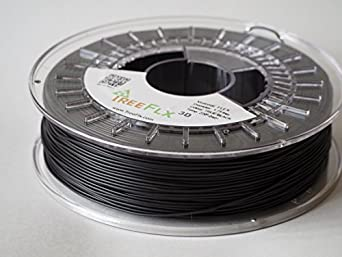 TreeFLX 3D TPU Premium European 3D Printer Filament, 750g Spool,-1.75mm- True Black Dimensional Accuracy +/- 0.03 mm