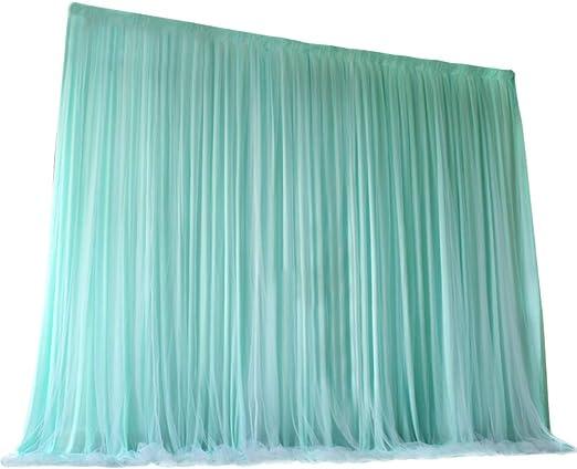Amazon.com: Tinton Life - Cortinas de tul de 2 capas para ...
