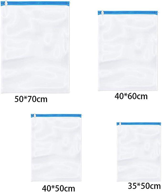 paquete de 6 Bolsas de almacenamiento al vac/ío bolsa de almacenamiento con cierre sellador para viajes ropa y equipaje 40 x 60 cm bolsa de compresi/ón para ahorrar espacio de viaje