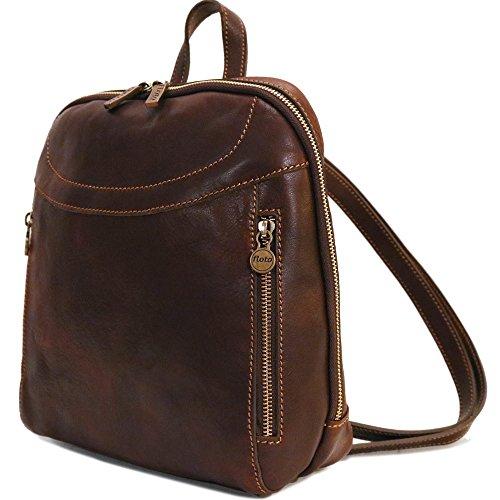 (Lampara Full Grain Leather Backpack Knapsack)