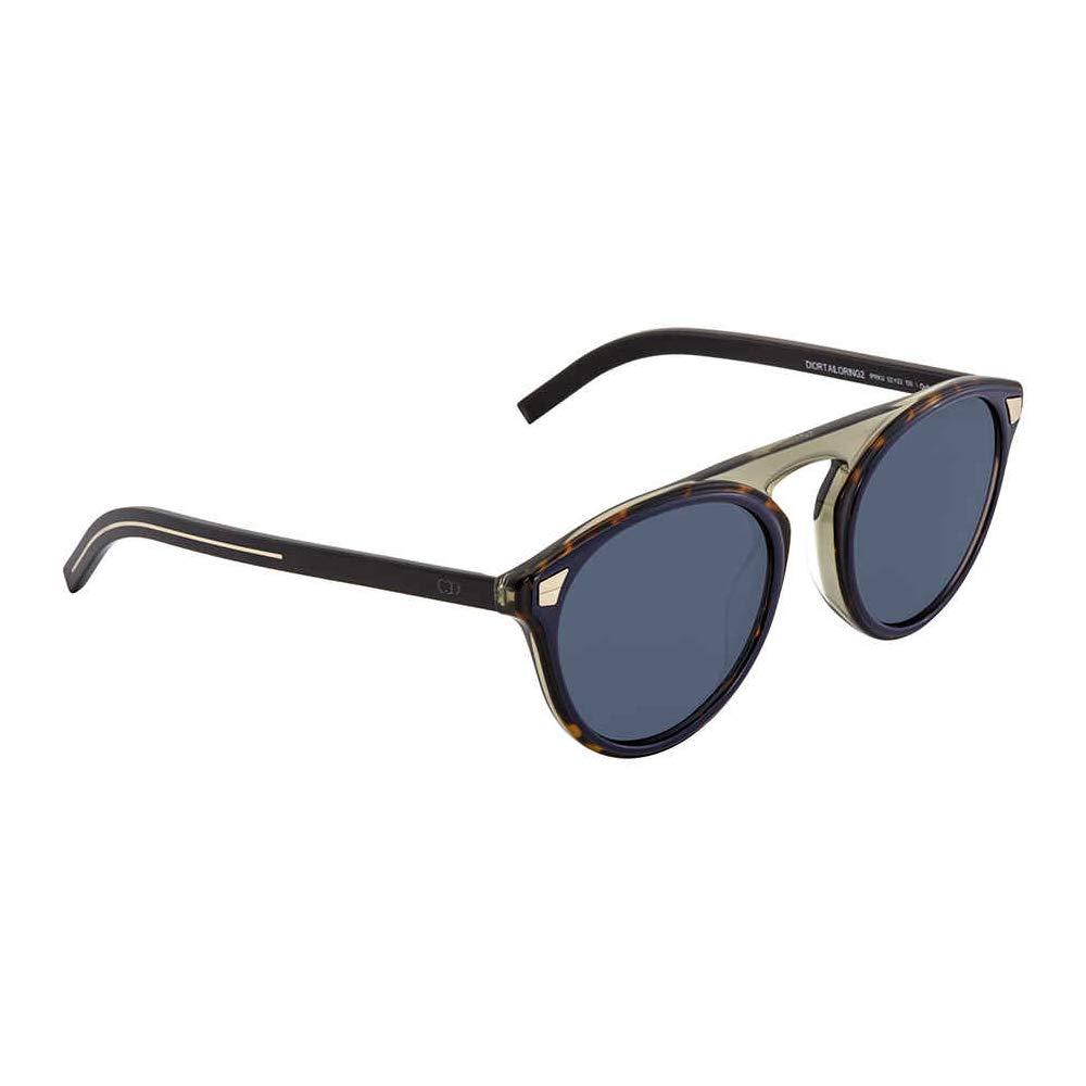 7429cd5c87 Christian Dior Men's DIORTAILORING2 KU Ipr Sunglasses, Blue (Havana Blue/Bl  Blue), 52