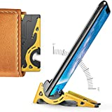 Pocket Tripod Pro by Geometrical - Universal Kit - EDC Universal Card-Size Adjustable Carbon Fiber Phone Tripod for iPhone and Android with TPU Grip for Mobile Photography (Bee)