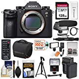 Sony Alpha A9 Wi-Fi 4K Digital Camera Body with 128GB Card + Battery & Charger + Case + Tripod + Remote + LED Video Light & Flash + Microphone + Kit