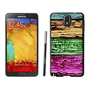 Awesome Samsung Galaxy Note 3 Case Colorized wood texture Soft Silicone TPU Black Phone Cover