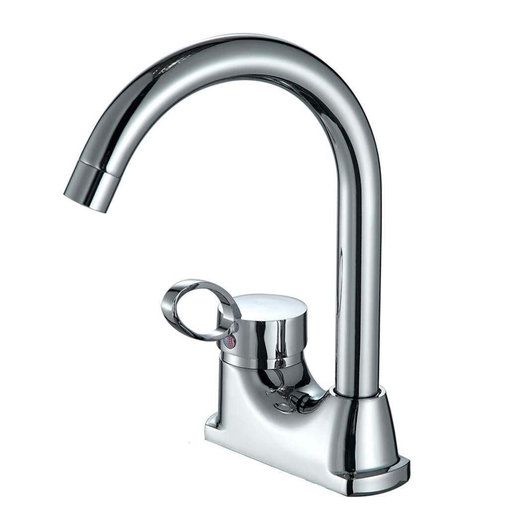 Yxx max Bathroom Full Copper Basin Faucet Hot and Cold 360 Degree Rotating Basin Faucet