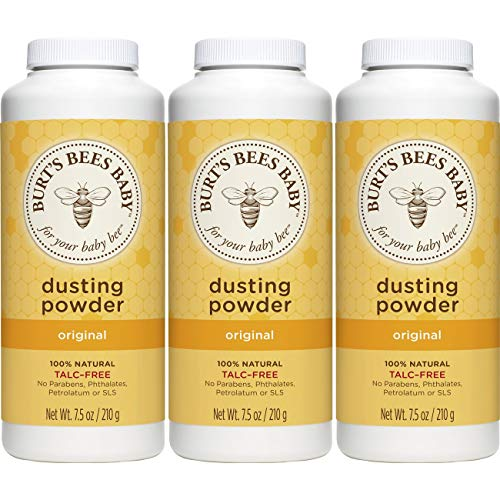 (Burt's Bees Baby 100% Natural Dusting Powder, Talc-Free Baby Powder - 7.5 Ounce Bottle (Pack of 3))