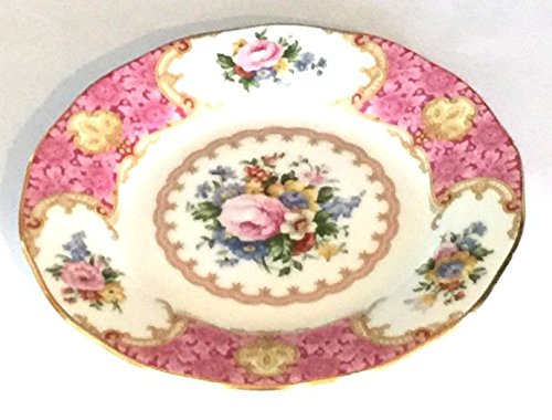 England Bread Plate (Royal Albert Plate,Lady Carlyle,bone China,Pink,England (6.2