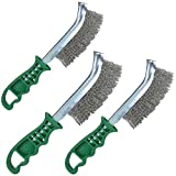 Stainless Steel Curved Wire Brush Rust Removal Cleaning Hand/Spid Brush x 3