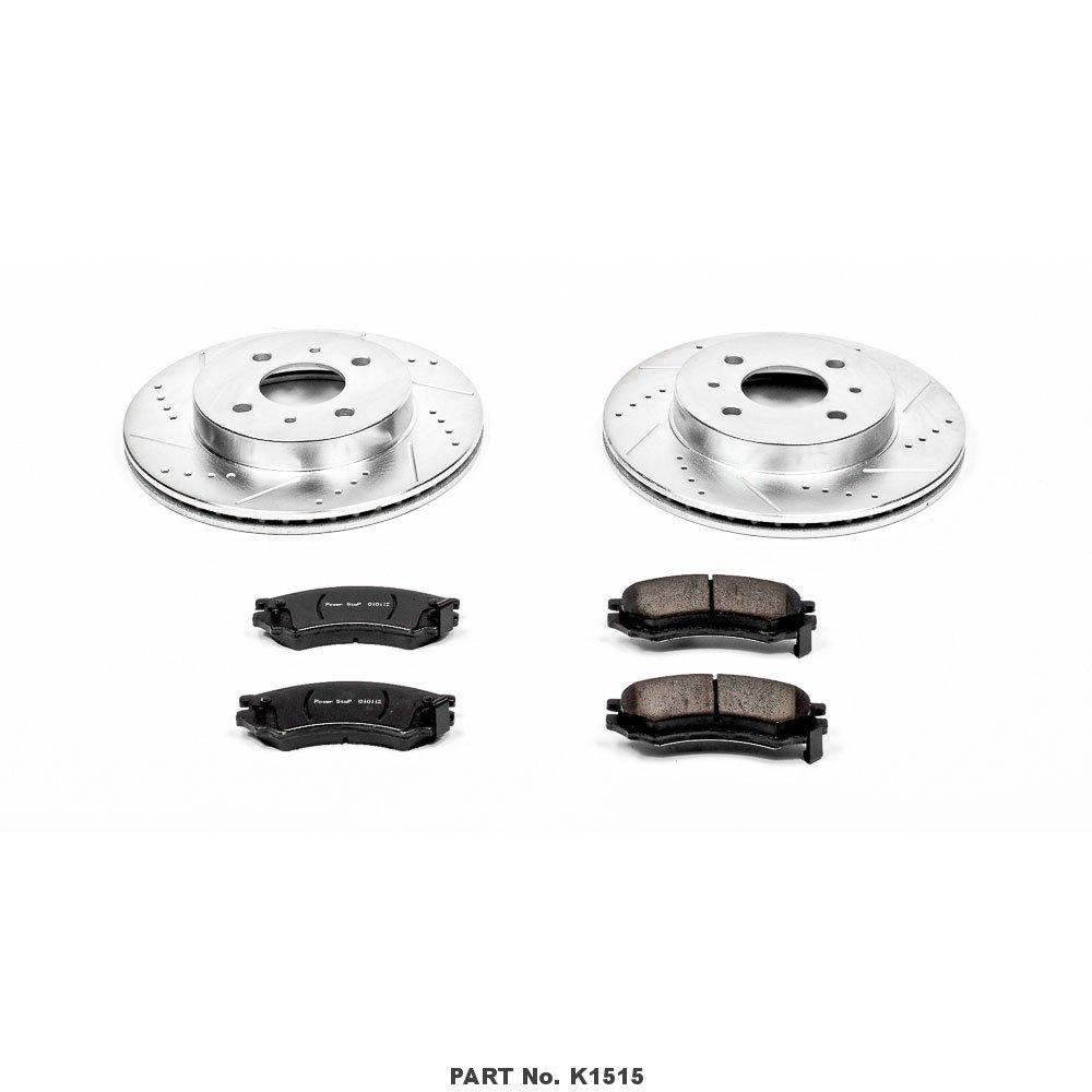 Power Stop K1515 Front Brake Kit with Drilled//Slotted Brake Rotors and Z23 Evolution Ceramic Brake Pads
