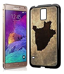 Burundi National Vintage Country Landscape Atlas Map Phone Case Cover Designs for Samsung Galaxy Note 4