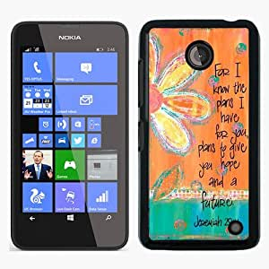 Nokia Lumia 630 Case ,Hot Sale And Popular Designed Nokia Lumia 630 Case With Bible Verse ,Vintage floral. For I know the plans I have for you. Plans to give you hope and a future. Jeremiah 29 11 Black Hight Quality Cover