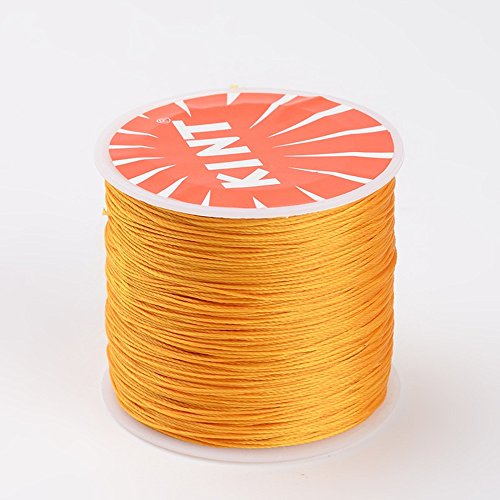 NBEADS 0.5mm 115 Yards Gold Waxed Polyester Beading Cords and Threads Crafting Cord Waxed Thread for Jewelry Making Bracelet