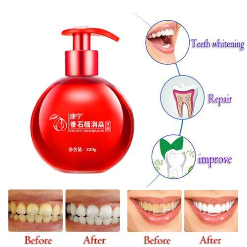(Whitening Toothpaste Children Fruits Toothpaste Stain Removal Toothpaste for Women and Men, Press The Pump Toothpaste Natural, Vegan, Fluoride Free,removes Coffee Stains)