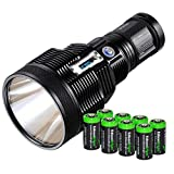 Nitecore TM36 Lite 1200 yards beam throw 1800 Lumen Luminus SBT-70 LED Flashlight / Searchlight with 8 X EdisonBright CR123A batteries bundle