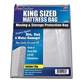 Amazon.com: American Moving Supplies ProSeries Mattress Bag - King ...