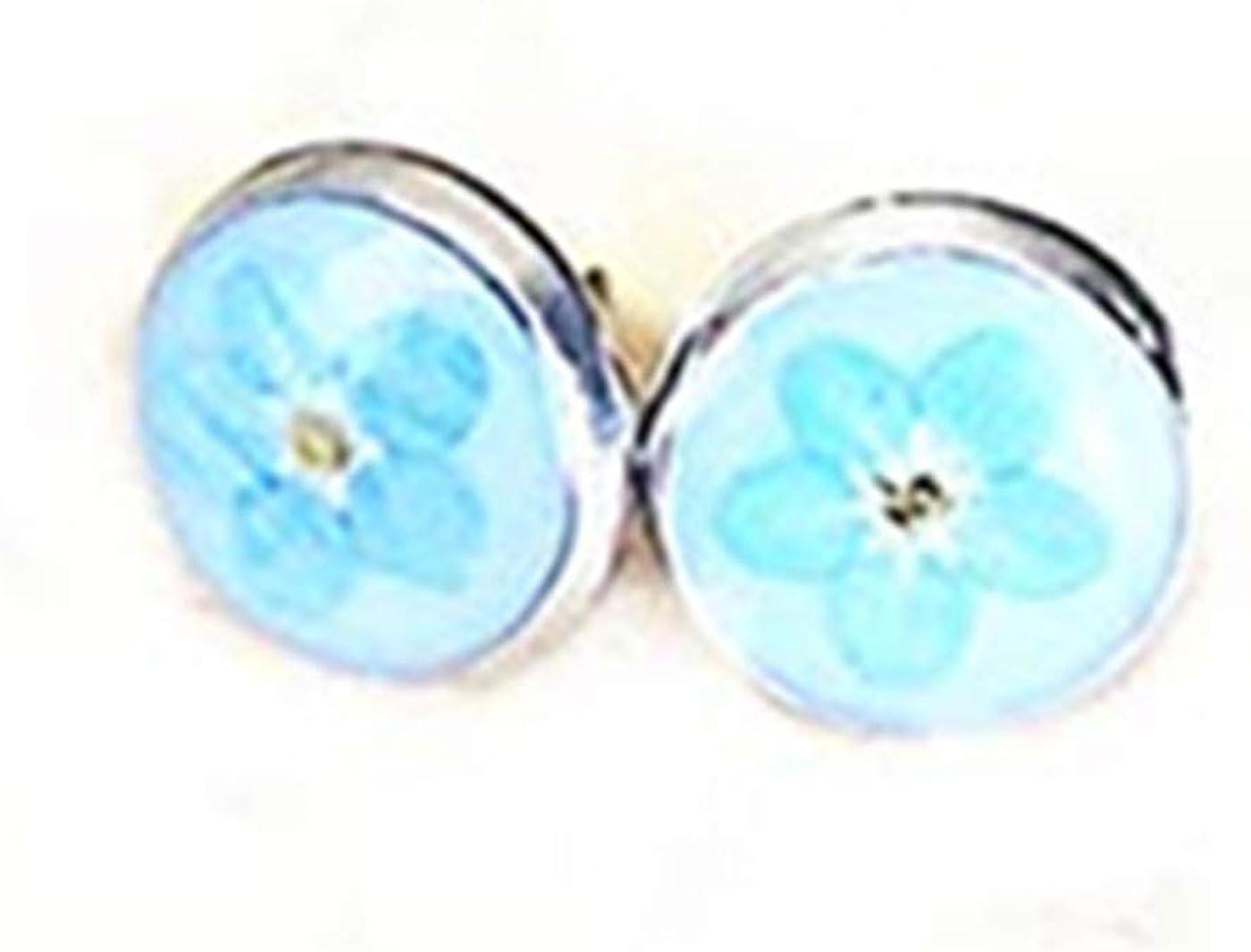 Nature earrings Long dangle earrings Nature jewelry Resin flower earrings Nature lover gift Blue Forget me not earring Real flower earrings