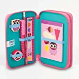 Give a Hoot Owl & Ladybird Double-Tier Filled Pencil Case