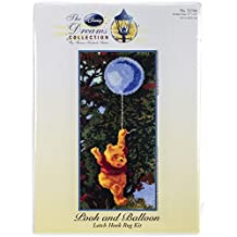 M.C.G. Textiles 52766 Pooh and Balloon Rug Disney Dreams Collection by Thomas Kinkade Latch Hook Kit, 17 by 36-Inch