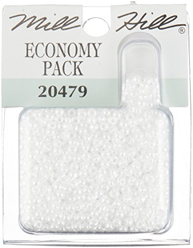 Mill Hill Glass Seed Beads Economy Pack, White ()
