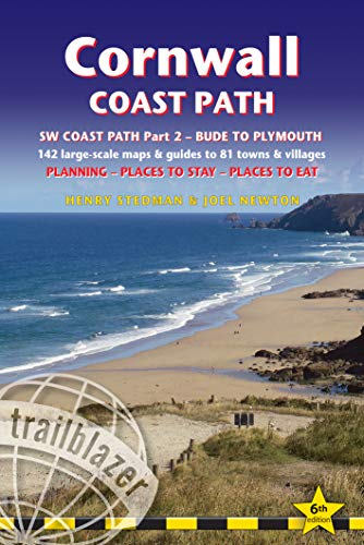Cornwall Coast Path: South-West Coast Path Part 2 Includes 142 Large-Scale Walking Maps & Guides to 81 Towns and Villages - Planning, Places to Stay, ... - Bude to Plymouth (British Walking Guides)