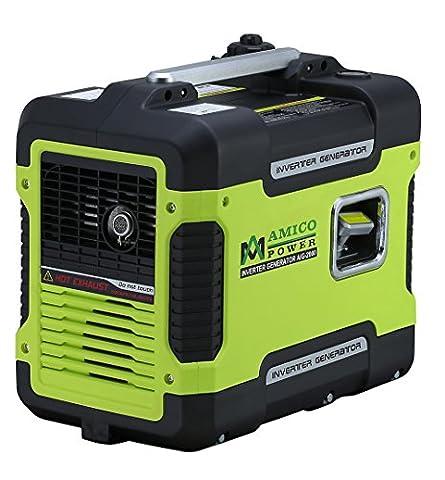 Amico 2000 Watt Sine Wave Portable Gasoline Generator 2kw Digital Inverter Quiet Home RV Camper Camping Power (Portable 2000w Generator)