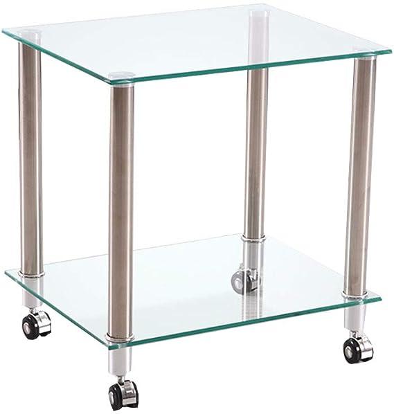 Tables YNN - Mueble de Cristal para TV y DVD con Ruedas, Color ...