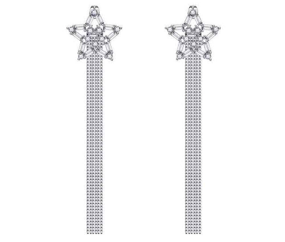 Pentagram Earrings Long Tassel Earrings