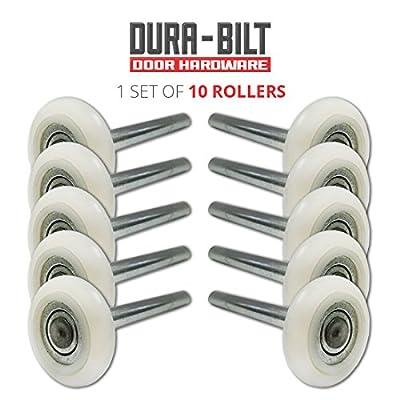 "Ultra-Quiet 2"" Nylon Garage Door Roller with 13-Ball Bearing & 4"" Stem (10 Pack)"