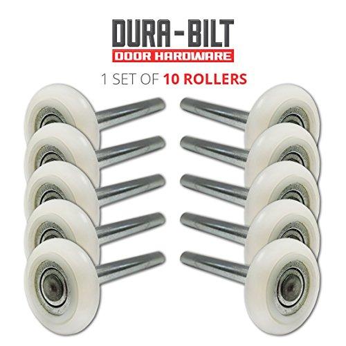 ultra-quiet-2-nylon-garage-door-roller-with-13-ball-bearing-4-stem-10-pack