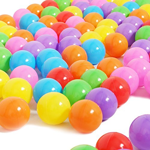Zebratown 100pcs Ocean Ball Blow Molding Processing Environmentally Pool Color Mixing Soft Round Balls Ball Pool For Kids Funny 8cm