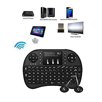 Mini teclado inalambrico con Ñ y Ç PC Xbox 360 PS3 Notebook Tablet Android TV: Amazon.es: Electrónica