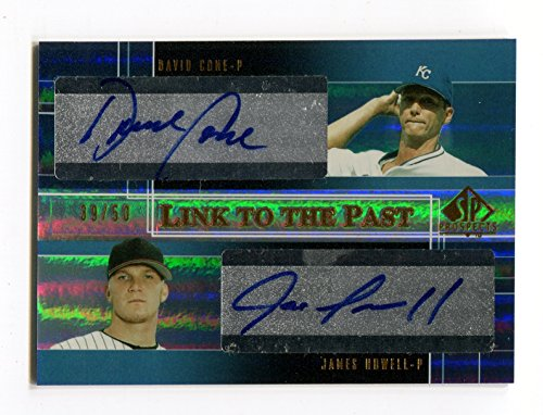 2004 Upper Deck SP Prospects DAVID CONE James J P Howell RC Dual Auto Link to the Past Very Rare Signed Card Serial Numbered #/50 Kansas City Royals Cone Link