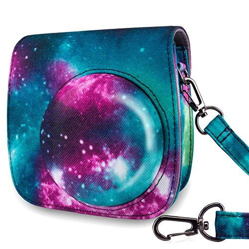 WOLVEN Protective Case Bag Purse Compatible with Mini 9 / Mini 8 / Mini 8+ Instant Camera, Star