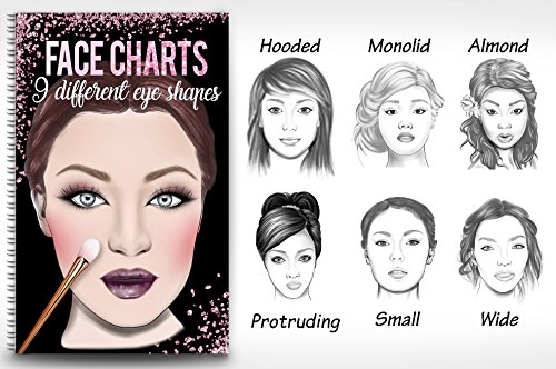 Makeup Artist Face Chart Book- 9 Different eye shapes & Nationalities - Face Different A