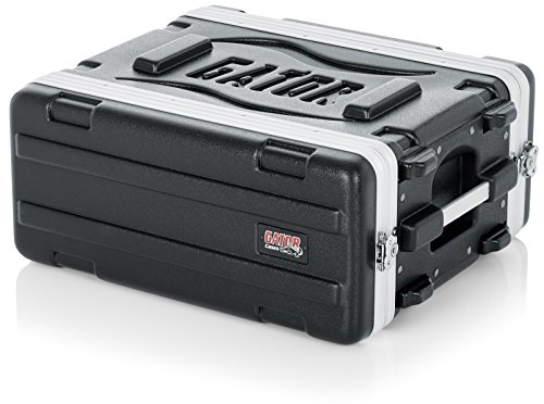 Gator Cases Lightweight Molded 4U Rack Case with Heavy Duty Latches; Shallow 14.25