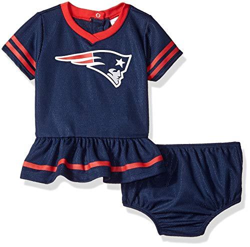 New England Patriots Infant - NFL New England Patriots Baby-Girls 2-Piece Football Dress Set, Blue, 0-3 Months