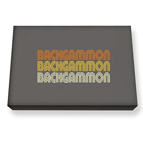 Teeburon Backgammon RETRO COLOR Canvas Wall Art ()