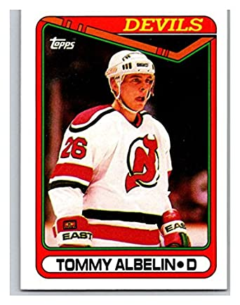 new style 3b392 9899e Amazon.com: 1990-91 Topps #323 Tommy Albelin Mint Hockey NHL ...