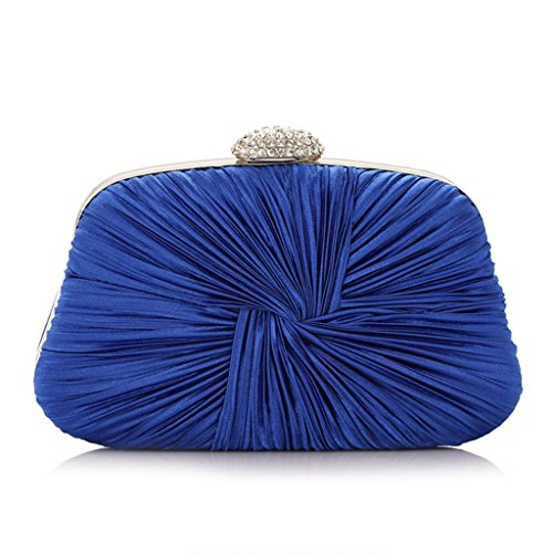 Handbag Bag Blue Blue Fashion Party Deep Shoulder Evening Prom Women Lady Purse Shoresu Clutch Bridal Deep ZPUzzqw