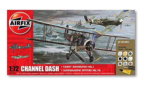 Airfix Channel Dash Airplane Building Gift Set, 1:72 Scale
