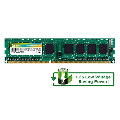 Silicon Power 16GB Kit DDR3-1600 MT/s 240 Pin Dual 1.35V/1.5V UDIMM Desktop Memory SP016GLLTU160N22 by Silicon Power (Image #3)