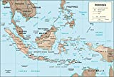 Map Poster - Indonesia Physical Map 9''x13''