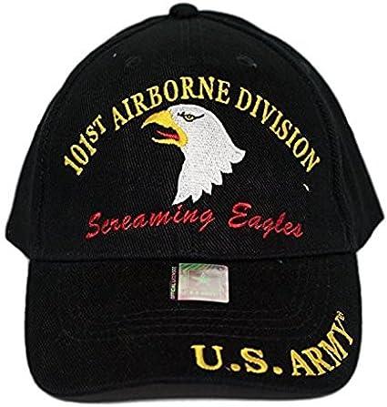 U.S Army 101st Airborne Screaming Eagles Hat Black