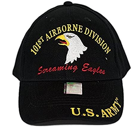 ca08c8d90a8 Amazon.com  U.S. Army 101st Airborne Screaming Eagles Black Embro ...