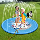 "NOUVCOO Splash Play Mat, Outdoor Sprinkle Water Play Mat 68"" Toddler Water Toys Summer Outdoor Swimming Pool for Toddlers"