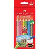 Premium Faber-Castell Color Pencils Includes Gold Color, Non Slip, Grid Dot, ECO Pencil [Box of 12 Colors]