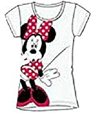 Disney Classic Minnie Mouse Womens Pajama T Shirt Top - White Red Black
