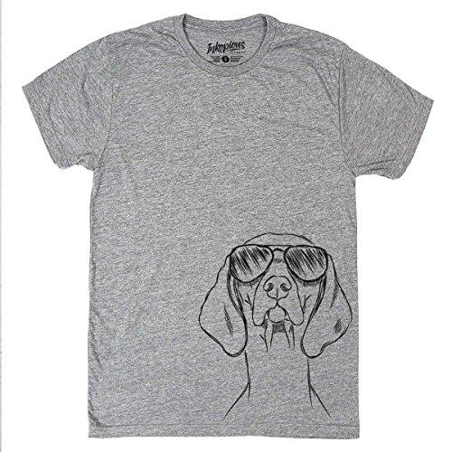 Inkopious Sawyer The Vizsla Men's/Women's Triblend T-Shirt Unisex Crewneck Xtra Large Grey