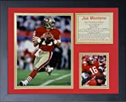 Legends Never Die Joe Montana Home Framed Photo Collage, 11 by 14-Inch