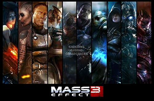 CGC Huge Poster - Mass Effect 1 2 3 Trilogy Crew PS3 XBOX 360 - OTH216 (24
